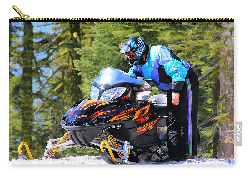 Arctic Cat Carry-all Pouch featuring the photograph Arctic Cat Snowmobile by Tap On Photo