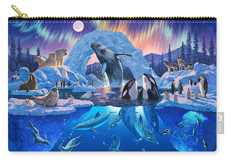 Animal Carry-all Pouch featuring the photograph Arctic Harmony by MGL Meiklejohn Graphics Licensing