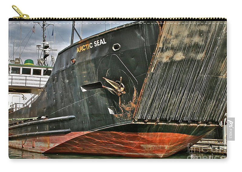 Boat Carry-all Pouch featuring the photograph Arctic Seal by Rick Monyahan