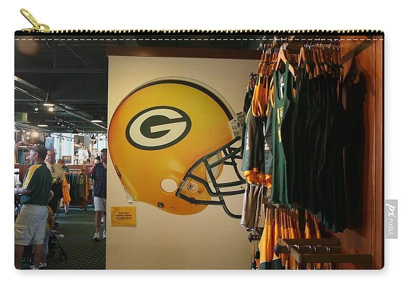Wisconsin Carry-all Pouch featuring the photograph Are You Ready For Some Football ? by Kay Novy