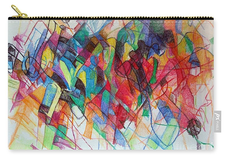 Torah Carry-all Pouch featuring the drawing Elul 2 by David Baruch Wolk