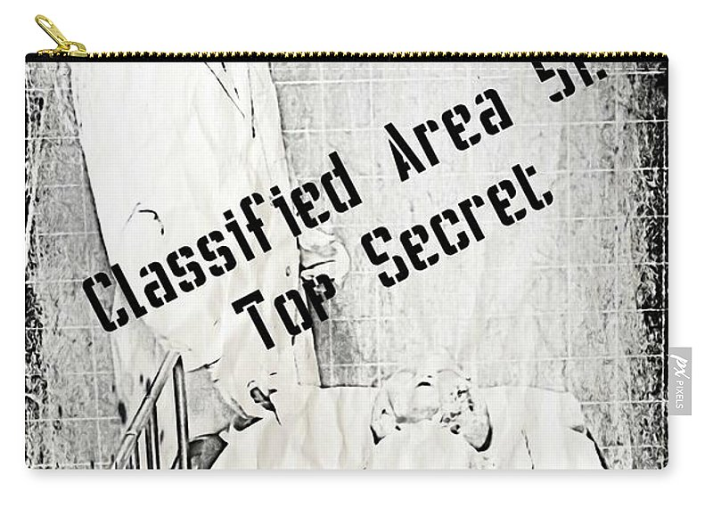 Area 51 Declassified Carry-all Pouch featuring the photograph Area 51 Declassified by John Malone