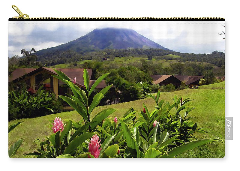 Tropical Carry-all Pouch featuring the photograph Arenal Costa Rica by Kurt Van Wagner