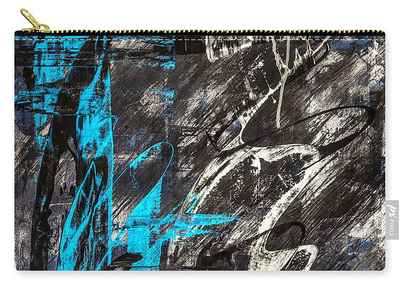 Abstract Carry-all Pouch featuring the painting Areus by Bruce Stanfield