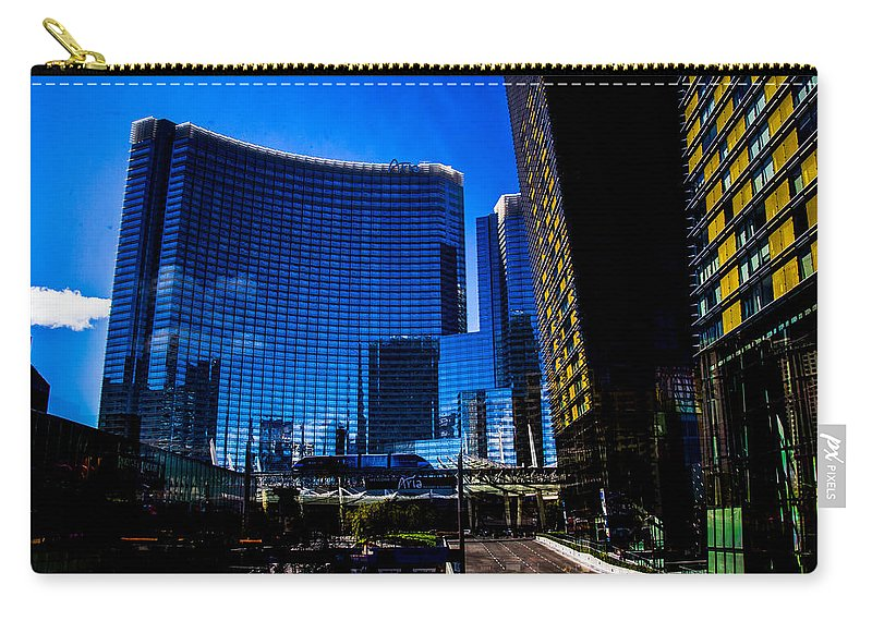 Las Vegas Carry-all Pouch featuring the photograph Aria by Angus Hooper Iii