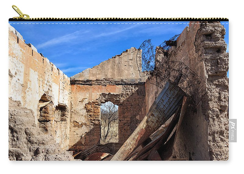 Arivaca Carry-all Pouch featuring the photograph Arivaca Ruins by Kathleen Bishop