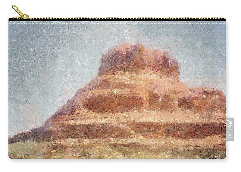 United States Of America Carry-all Pouch featuring the painting Arizona Mesa by Jeffrey Kolker