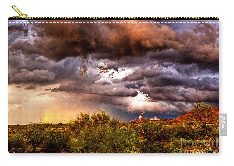 Sunset Carry-all Pouch featuring the photograph Arizona Sunset 5 by Larry White