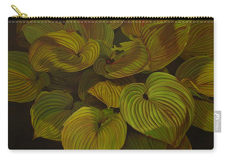 Plants Carry-all Pouch featuring the painting Arkansas Green by Thu Nguyen