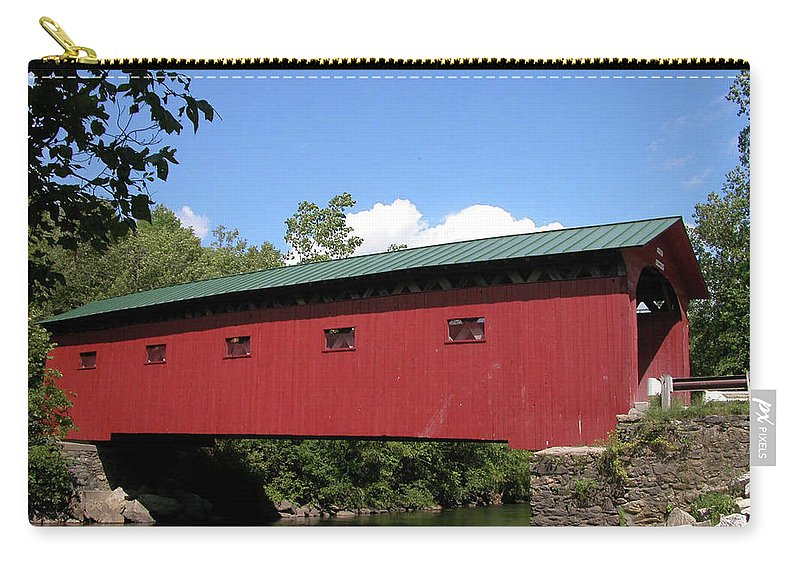 Covered Bridge Carry-all Pouch featuring the photograph Arlington Bridge 2526a by Guy Whiteley