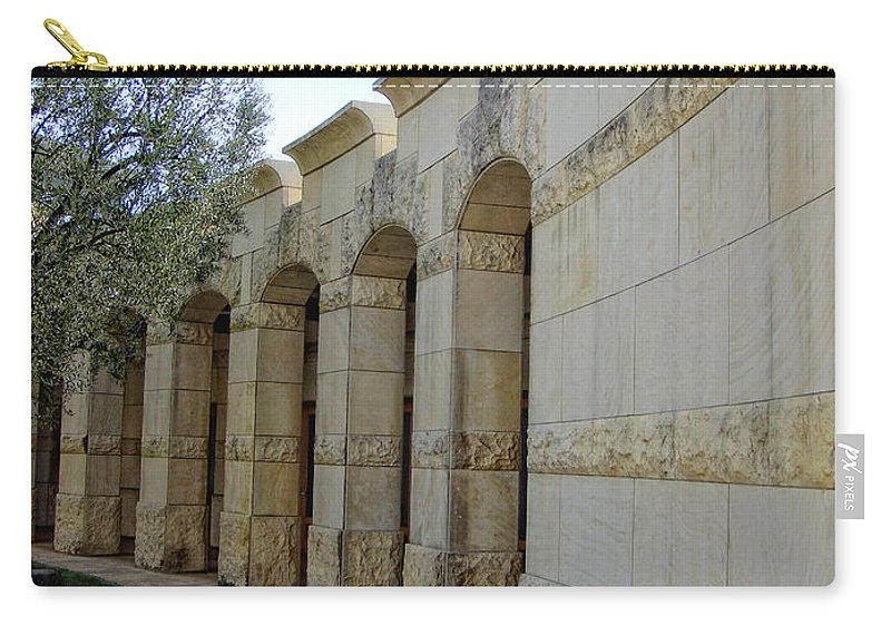 Architecture Carry-all Pouch featuring the photograph Around The Bend by Donna Blackhall
