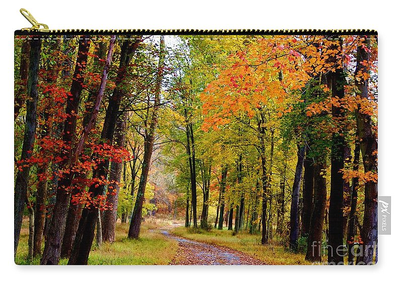 Around The Bend Carry-all Pouch featuring the photograph Around The Bend by Patti Whitten