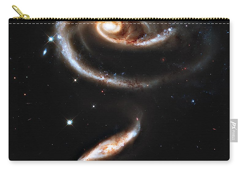 Arp Carry-all Pouch featuring the photograph Arp 273 Rose Galaxies by Ricky Barnard