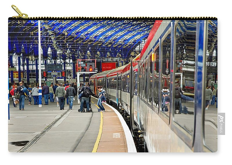 Train Carry-all Pouch featuring the photograph Arrivals by Keith Armstrong
