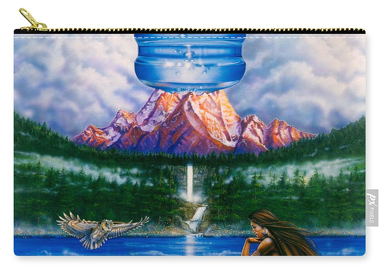 Fantasy Carry-all Pouch featuring the painting Arrowhead by Timothy Scoggins