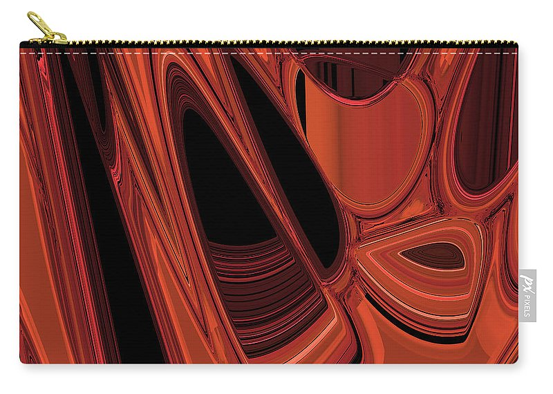 Abstract Carry-all Pouch featuring the digital art Arroyo 1 by Judi Suni Hall