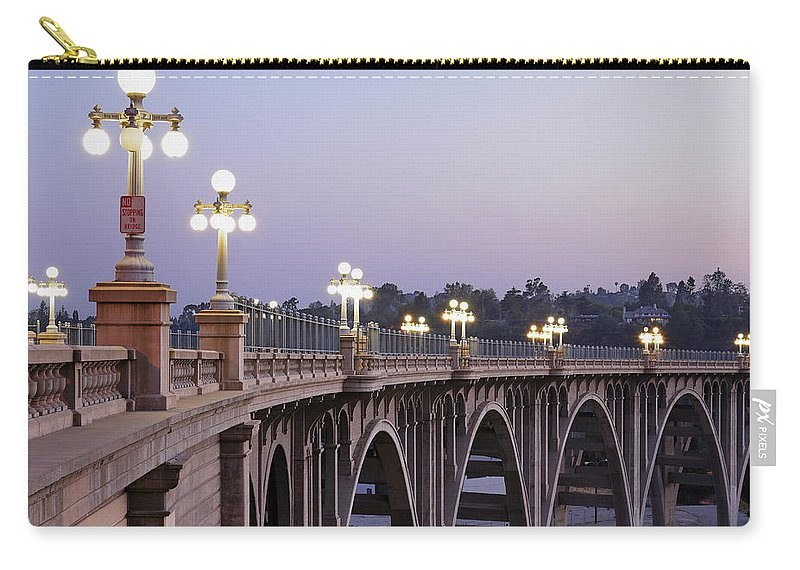 Arch Carry-all Pouch featuring the photograph Arroyo Seco Bridge Pasadena by S. Greg Panosian