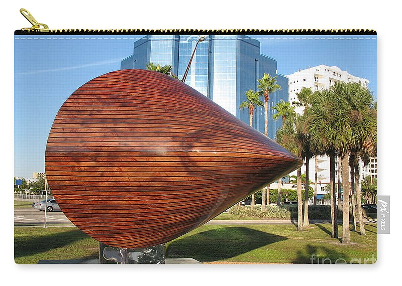 Art Carry-all Pouch featuring the photograph Art 2009 At Sarasota Waterfront by Christiane Schulze Art And Photography