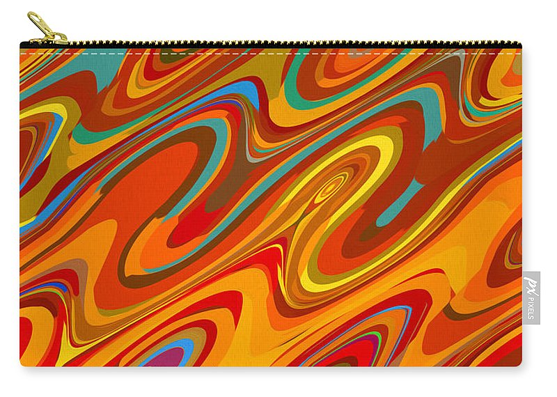 Abstract Carry-all Pouch featuring the painting Art Abstract Geometric Pattern 26 by Jeelan Clark