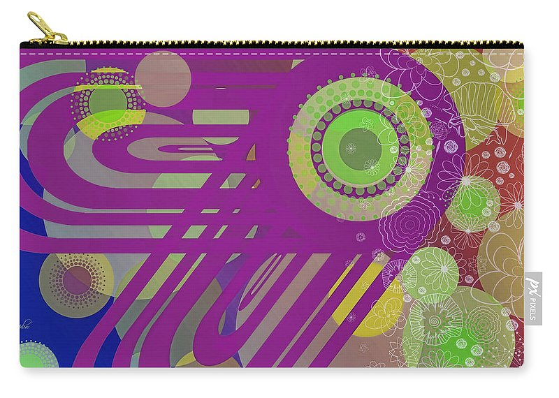 Wright Carry-all Pouch featuring the digital art Art Deco Explosion 6 by Paulette B Wright