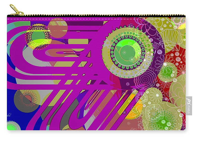 Wright Carry-all Pouch featuring the digital art Art Deco Explosion 7 by Paulette B Wright