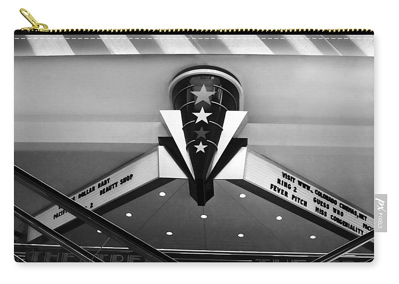 Art Carry-all Pouch featuring the photograph Art Deco Theatre 2 by Marilyn Hunt