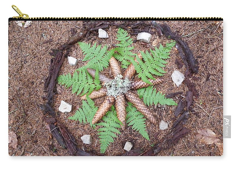 Mandala Carry-all Pouch featuring the photograph Art Of The Woods by Petra Stephens
