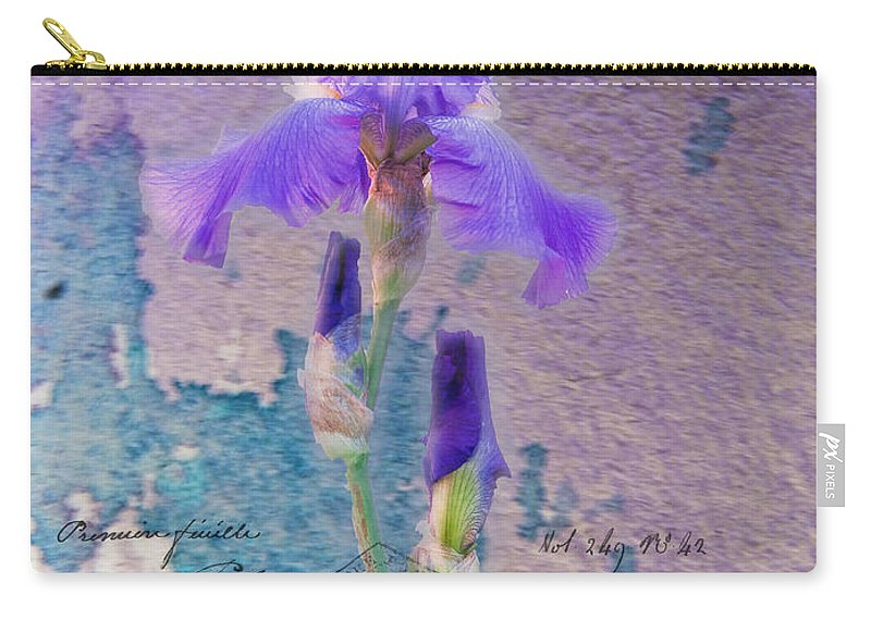 Iris Carry-all Pouch featuring the photograph Art On Plaster by Janice Pariza