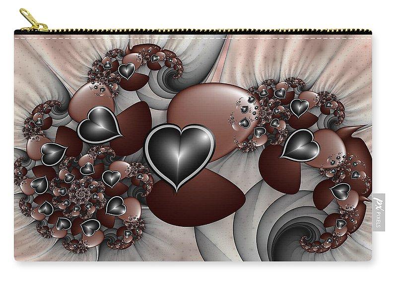 Digital Art Carry-all Pouch featuring the digital art Art With Heart by Gabiw Art