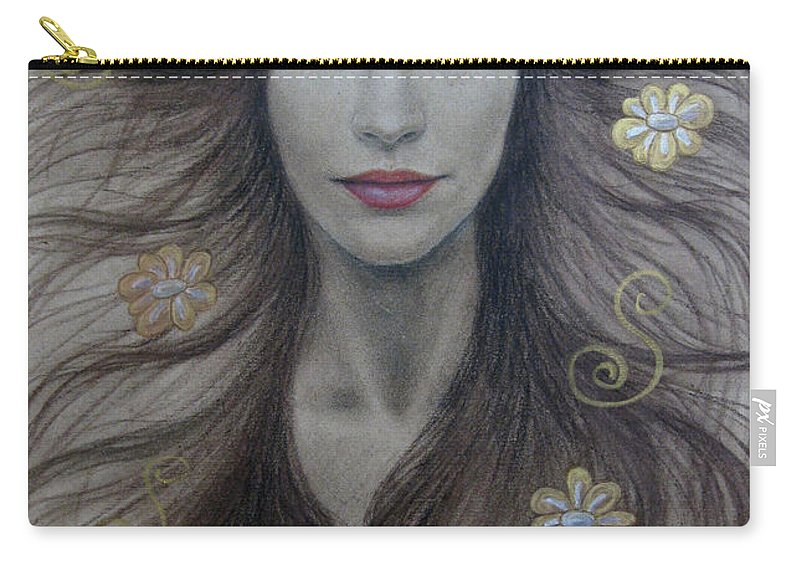 Artemis Carry-all Pouch featuring the painting Artemis by Lynet McDonald