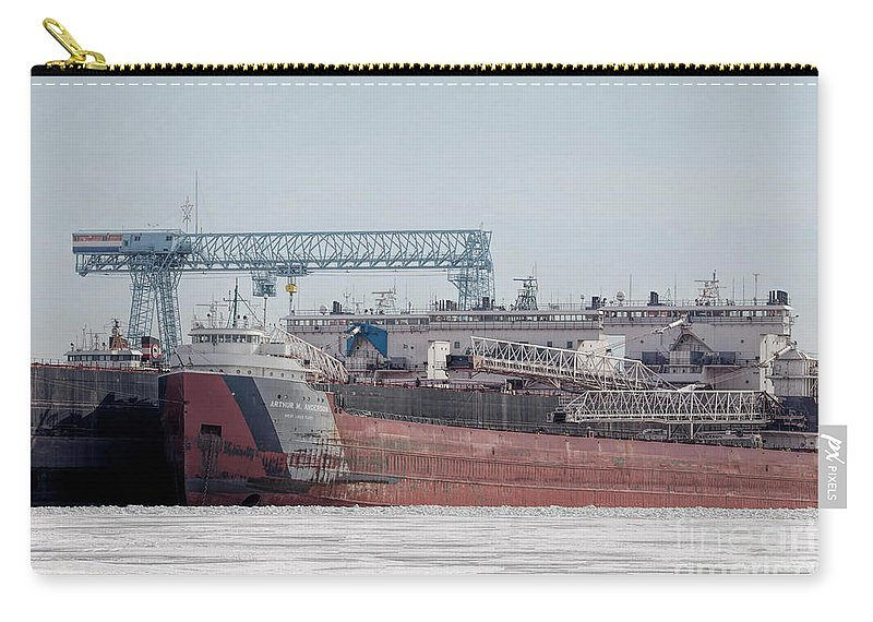 Great Lakes Carry-all Pouch featuring the photograph Arthur Anderson Freighter by Nikki Vig