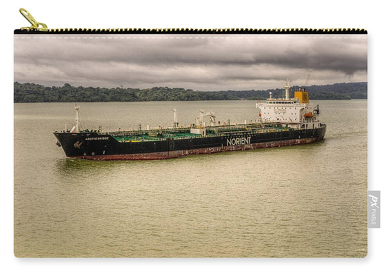 Business Carry-all Pouch featuring the photograph Artic Bridge In The Panama Canal by John Trax