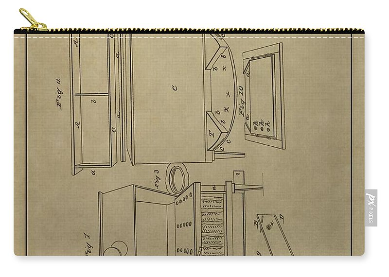 Artificial Bee Hive Patent Carry-all Pouch featuring the drawing Artificial Bee Hive Patent by Dan Sproul