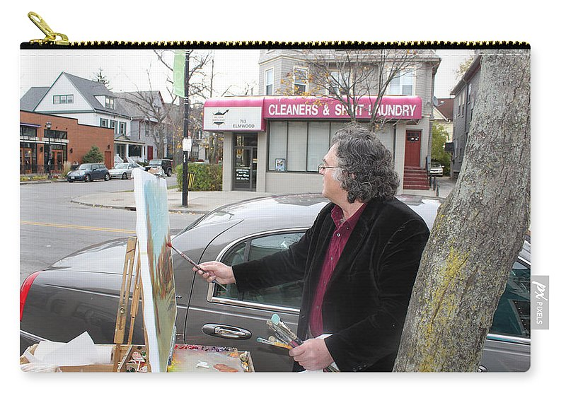 Ylli Haruni Carry-all Pouch featuring the photograph Artist At Work Buffalo by Ylli Haruni