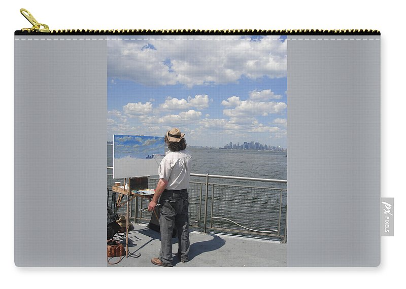 Ylli Haruni Carry-all Pouch featuring the photograph Artist At Work Manhattan by Ylli Haruni