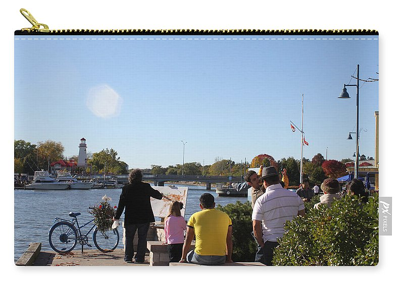 Ylli Haruni Carry-all Pouch featuring the photograph Artist At Work Toronto by Ylli Haruni