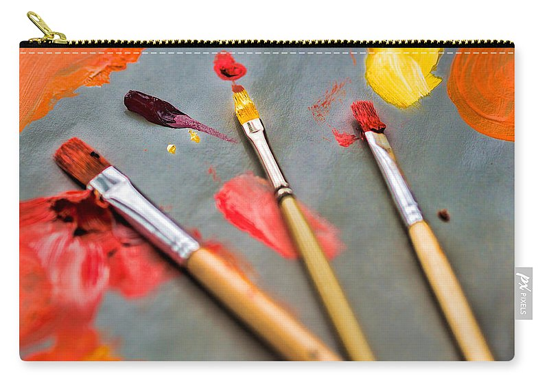 Artist Carry-all Pouch featuring the photograph Artist's Palette by David Kay