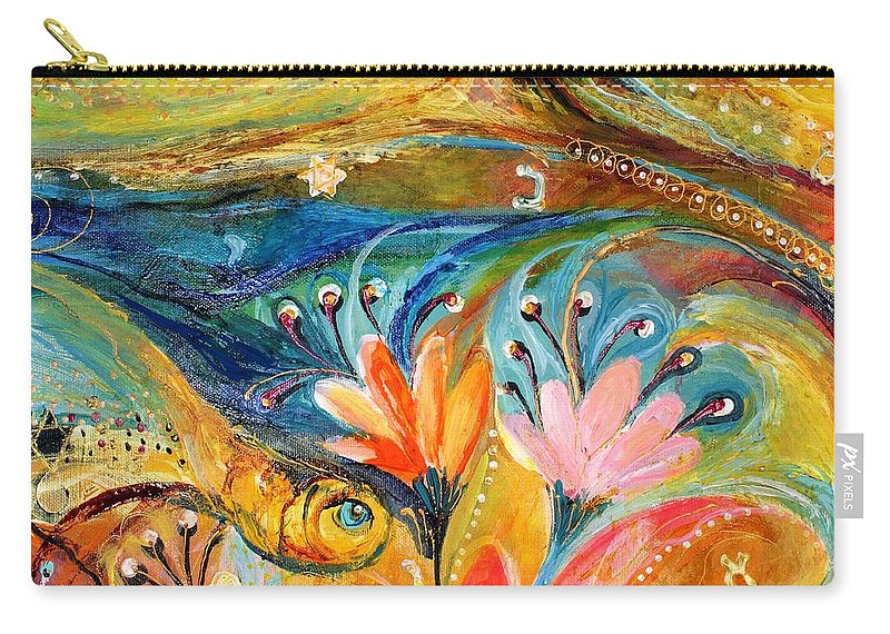 Jewish Art Prints Carry-all Pouch featuring the painting Artwork Fragment 08 by Elena Kotliarker
