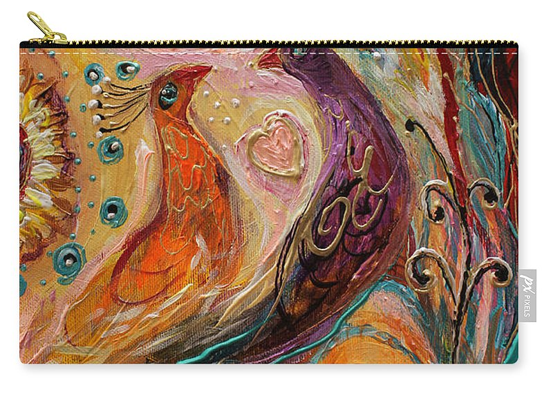 Jewish Art Prints Carry-all Pouch featuring the painting Artwork Fragment 69 by Elena Kotliarker