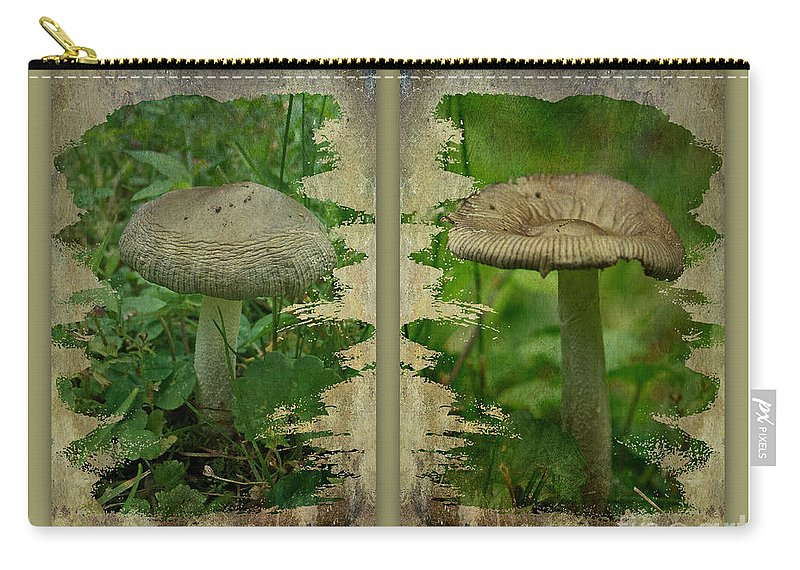 Mushroom Carry-all Pouch featuring the photograph As I Age - A Mushroom's Tale by Mother Nature