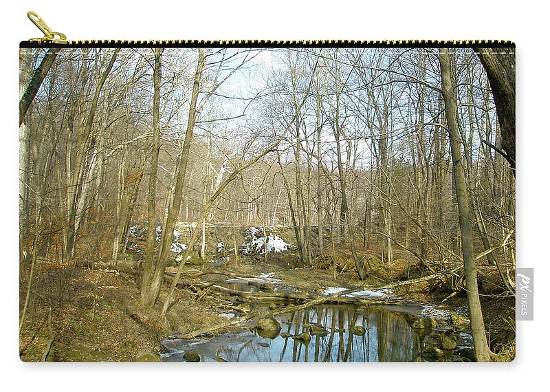 Landscape Carry-all Pouch featuring the photograph As Spring Begins by Mother Nature