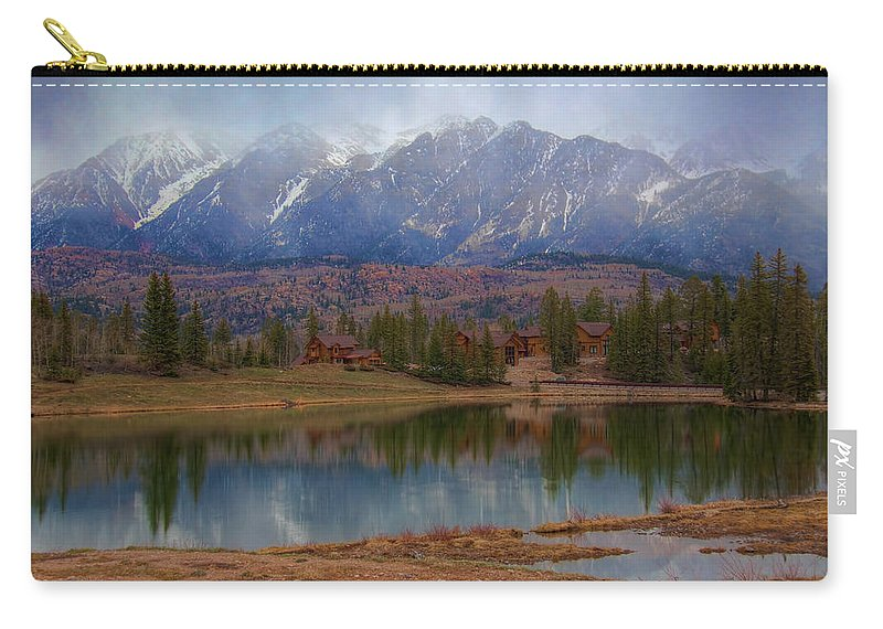 Colorado Carry-all Pouch featuring the photograph As The Fog Lifts by Tom Weisbrook