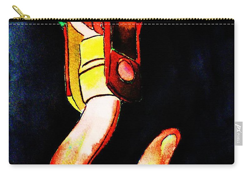 Asarco Carry-all Pouch featuring the painting Asarco Powerhouse Hook by Melinda Etzold