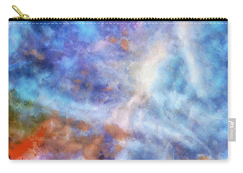 Abstract Carry-all Pouch featuring the painting Ascending From A Dive by Taiche Acrylic Art