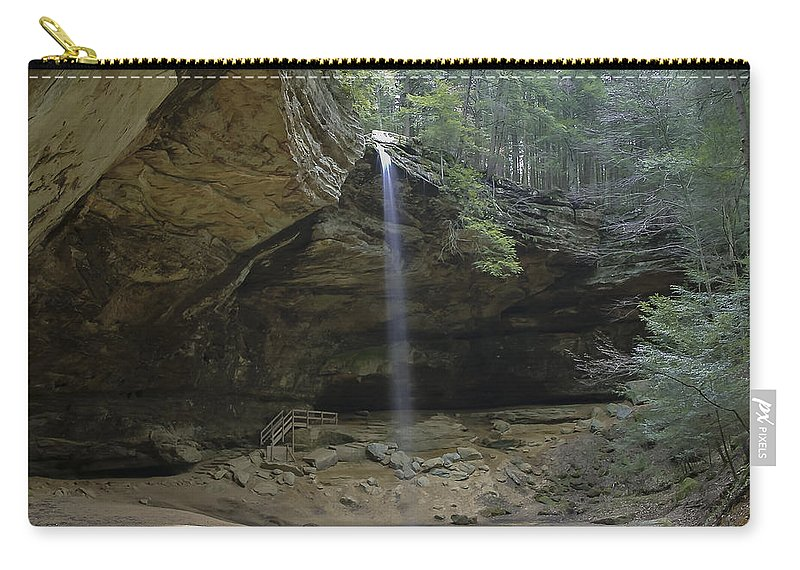 Area Carry-all Pouch featuring the photograph Ash Cave Falls by Jack R Perry