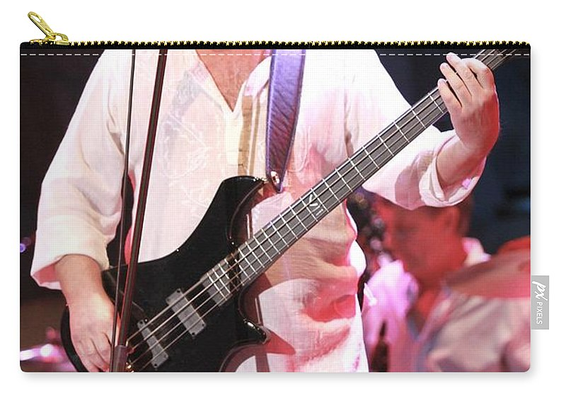 Performing Carry-all Pouch featuring the photograph Asia - John Wetton by Concert Photos
