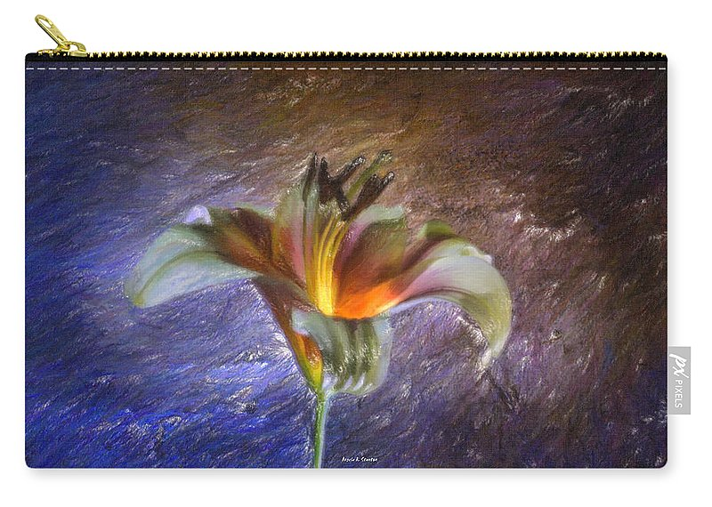Lily Carry-all Pouch featuring the painting Asiatic Lily by Angela Stanton