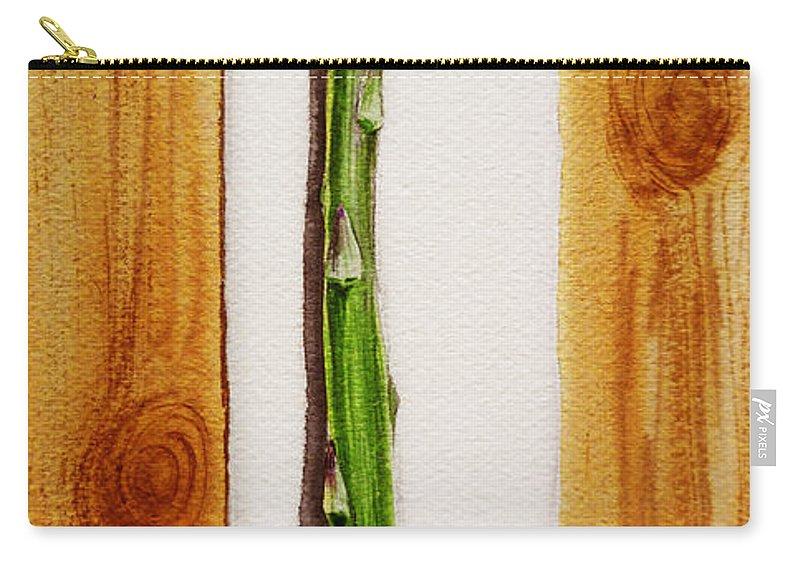 Asparagus Carry-all Pouch featuring the painting Asparagus Tasty Botanical Study by Irina Sztukowski