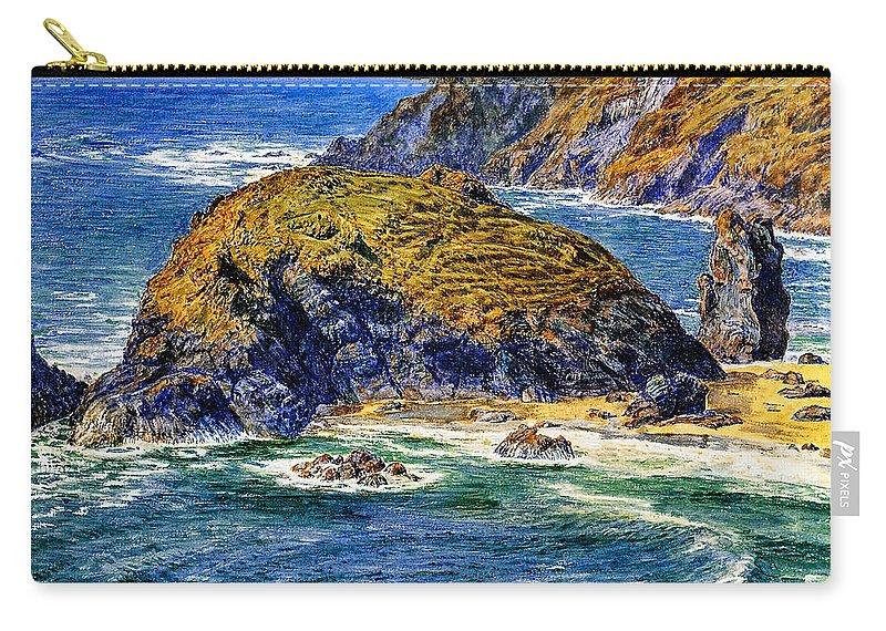 William Holman Hunt Carry-all Pouch featuring the digital art Aspargus Island by William Holman Hunt
