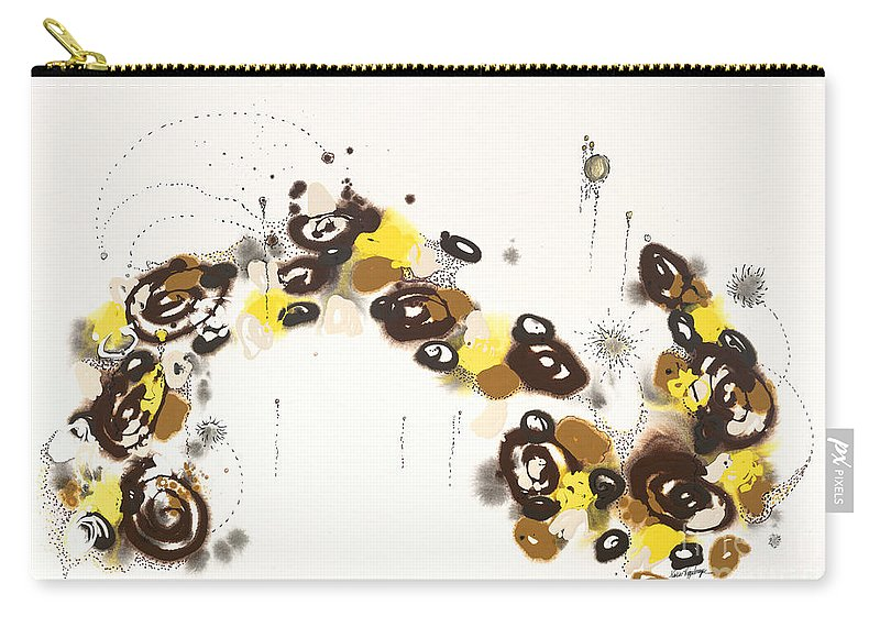 Aspen Carry-all Pouch featuring the painting Aspen Celebration #3 by Nadine Rippelmeyer